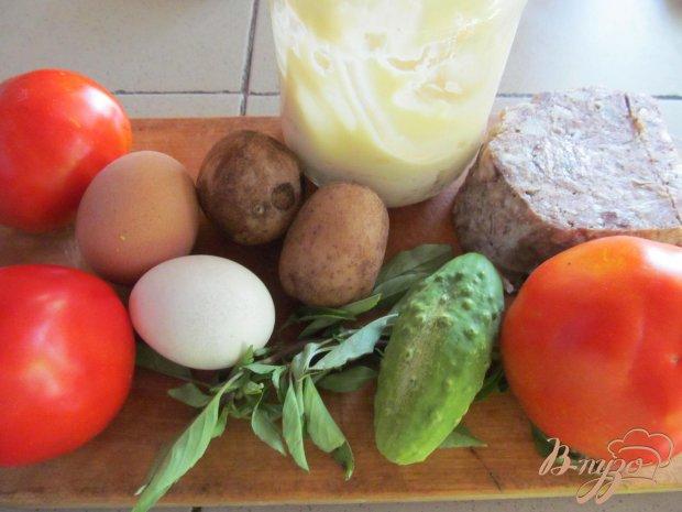 Рецепт Помидор фаршированный салатом
