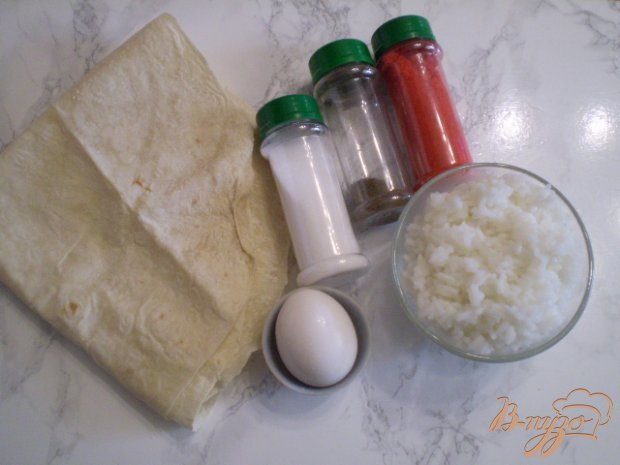 Рецепт Трубочки из лаваша с рисом