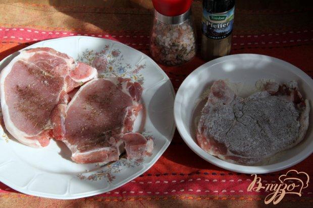 Рецепт Свинина на косточке в сливочном соусе