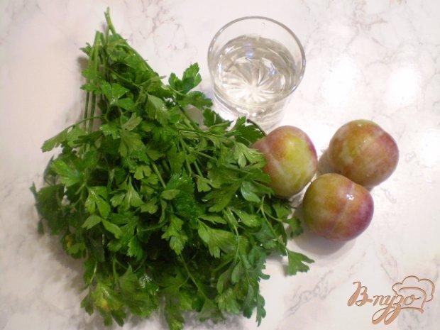 Рецепт Коктейль из зелени и слив