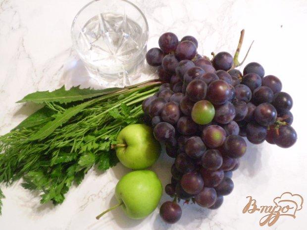 Рецепт Коктейль с зеленью, виноградом и яблоками