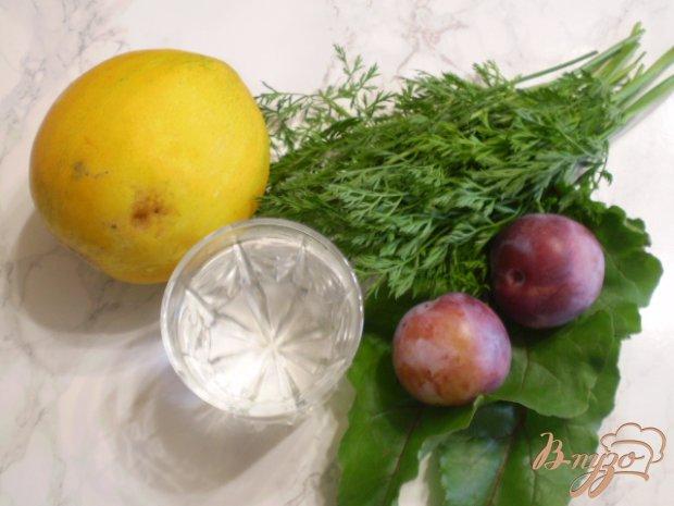 Рецепт Коктейль с зеленью, дыней и сливой
