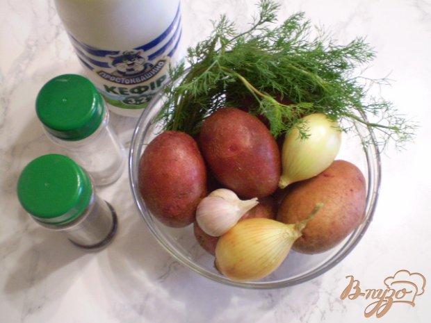 Рецепт Картофель с кефиром и чесноком