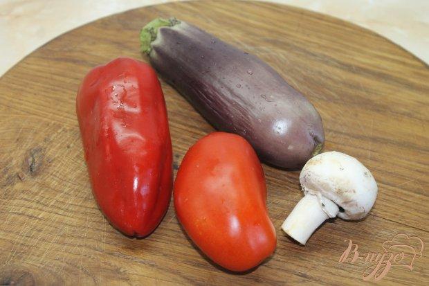 Рецепт Баклажанный веер с начинкой с соусом и сыром