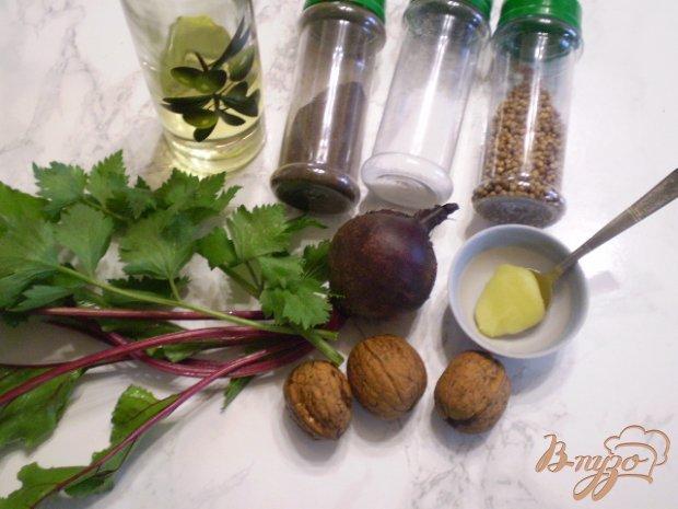 Рецепт Свекольный салат с медом и ботвой