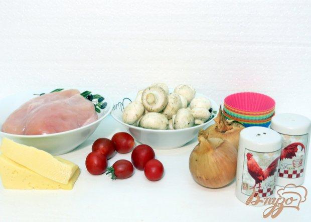 Рецепт Куриные маффины с грибной начинкой