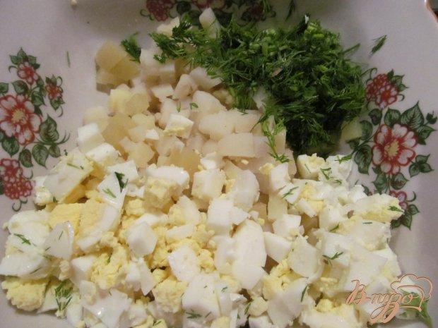 Рецепт Салат из картофеля с горбушей