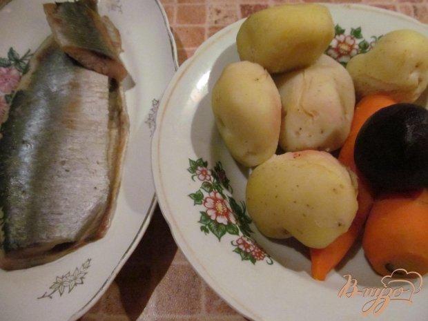 Рецепт Сельдь с овощами