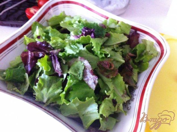 Рецепт Овощной салат с тунцом и перепелиными яйцами