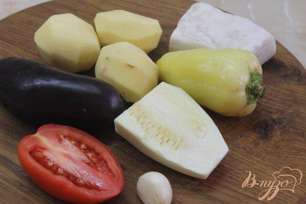 Рецепт Картофель с овощами и сыром жаренные в духовке