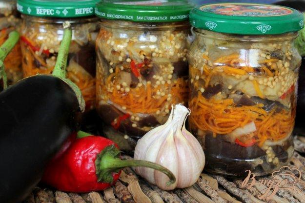 фото рецепта: Баклажаны с морковкой, луком и чесноком на зиму