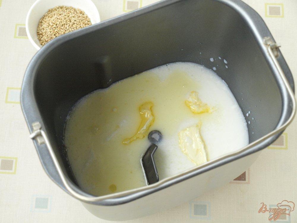 Рецепт Хлеб с кунжутом в хлебопечке