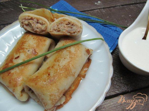 Блинчики с мясом вареным рецепт с пошагово