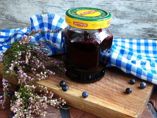фото рецепта: Черника протертая с сахаром на агар-агаре