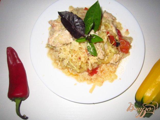 фото рецепта: Паста с курицей и кабачком