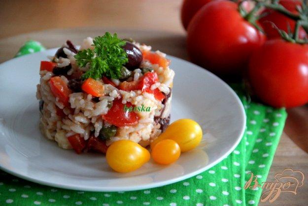 фото рецепта: Теплый салат  в греческом стиле