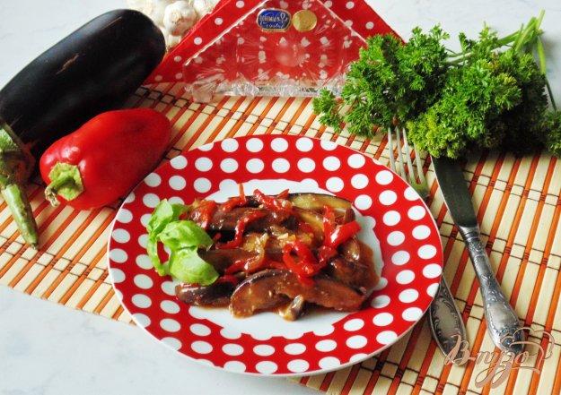 фото рецепта: Жареные баклажаны со сладким перцем