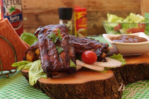 фото рецепта: Свинные ребрышки в соусе барбекю