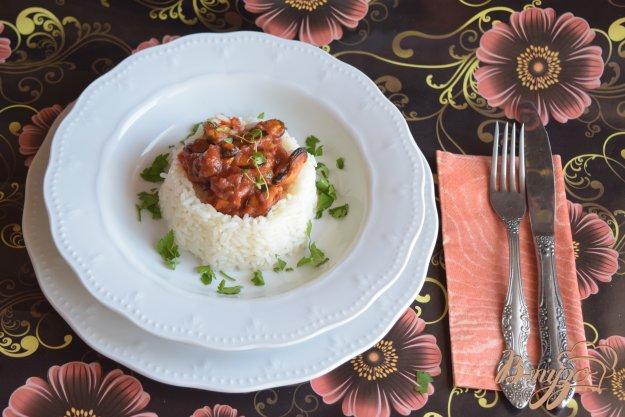 фото рецепта: Мидии в томатном соусе