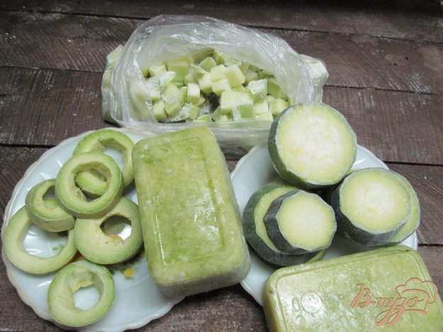 фото рецепта: 4 способа заморозки кабачка