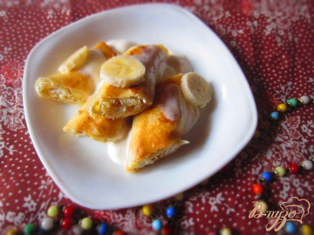Млинці з сиром і бананом. Як приготувати з фото