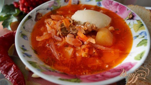 фото рецепта: Борщ украинский с фасолью