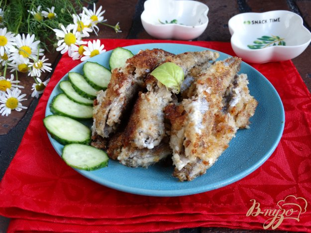 фото рецепта: Путассу в майонезе и сухарях