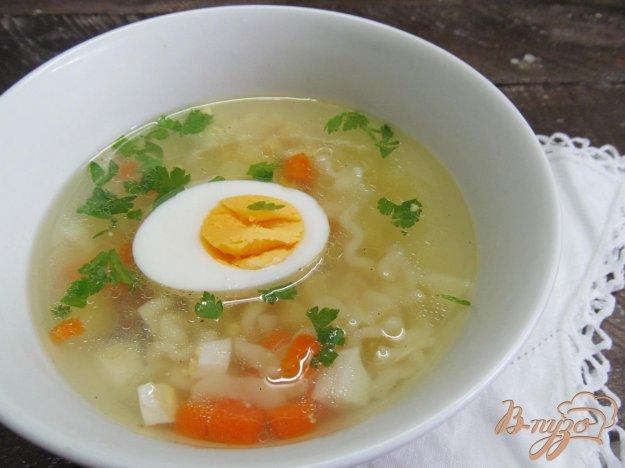 фото рецепта: Яичный суп на курином бульоне