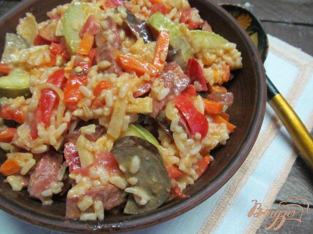 фото рецепта: Овощи с рисом