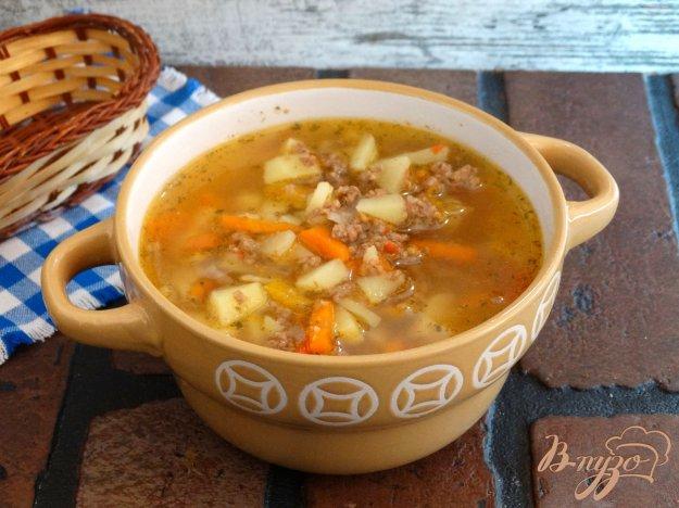 фото рецепта: Густой овощной суп с говяжьим фаршем