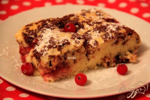 фото рецепта: Запеканка из творога, с шоколадом и ягодами