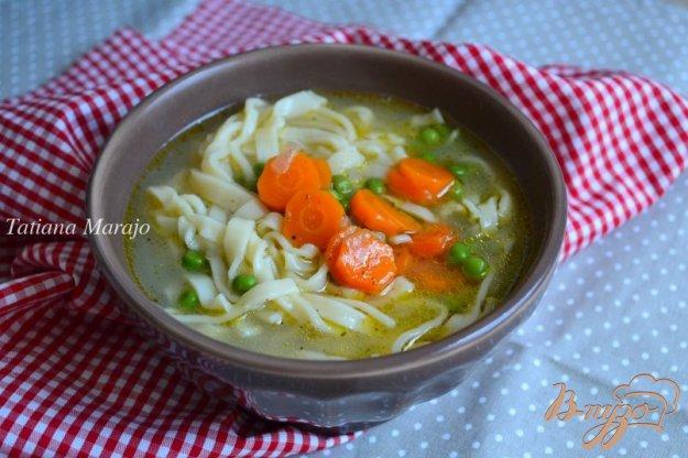 фото рецепта: Овощной суп с домашней лапшой