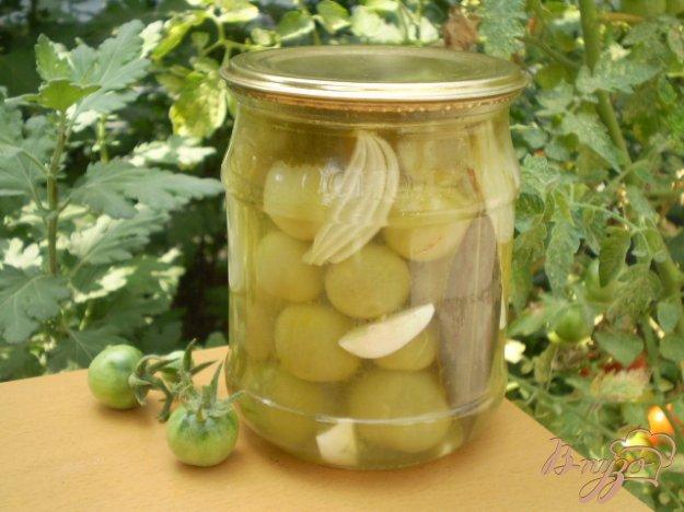 фото рецепта: Зеленые помидоры черри на зиму