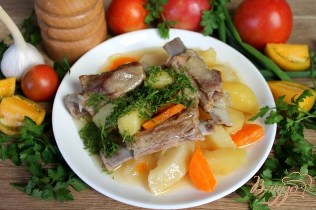 фото рецепта: Ребрышки ягненка с картофелем
