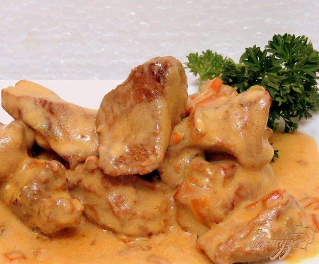 фото рецепта: Свинина в сметанном соусе