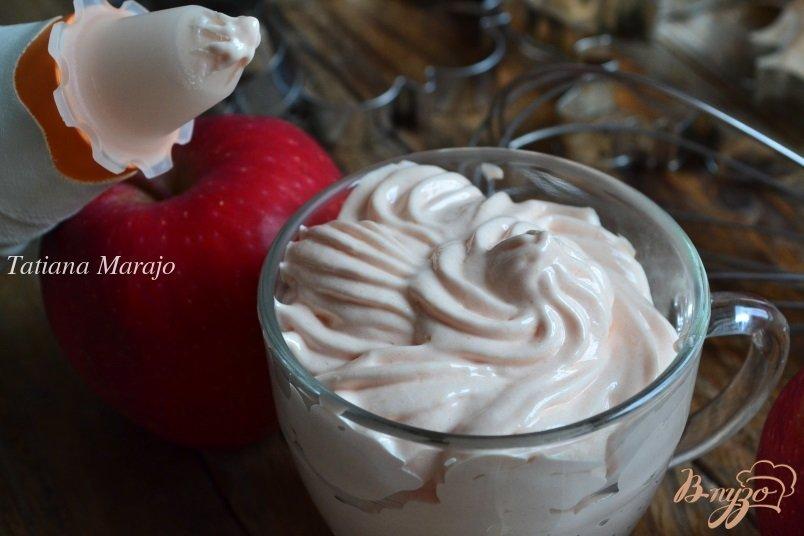 Крем с яблоками для торта