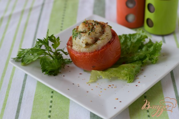 фото рецепта: Филе рыбы в помидорных чашечках