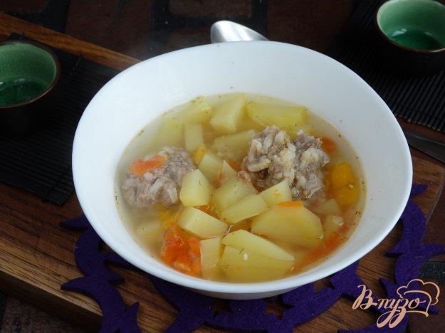 фото рецепта: Суп с тефтелями и овощами в мультиварке