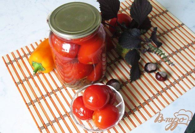 фото рецепта: Кисло-сладкие консервированные помидоры.