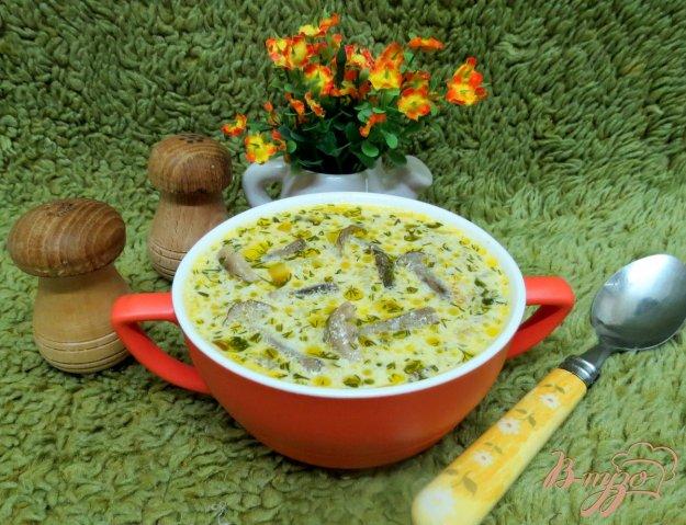 фото рецепта: Суп с опятами и со сметаной