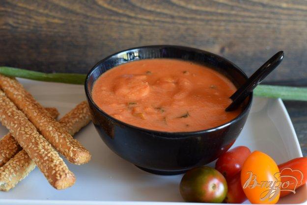 фото рецепта: Быстрый томатно- сливочный суп с креветками