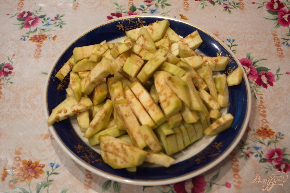 Рецепт Осенние горячие баклажаны со вкусом грибов