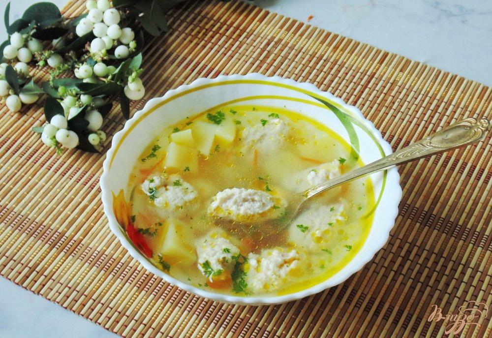 86Диетический суп из курицы с рисом