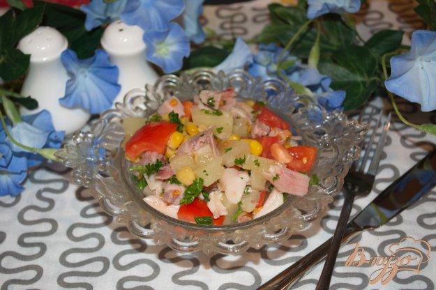 фото рецепта: Салат с курицей без заправки