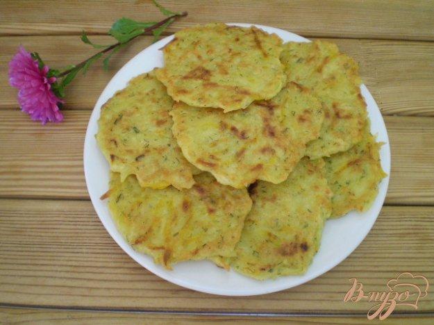 фото рецепта: Драники картофельные с тыквой