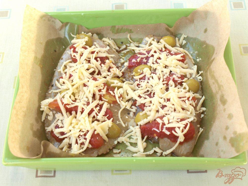 Рецепт рыба в духовке с помидорами и сыром рецепт с фото
