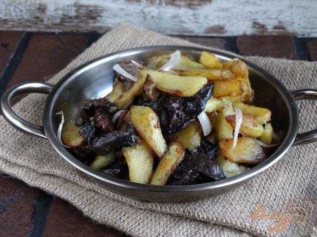 Картопля смажена з лісовими грибами. Як приготувати з фото