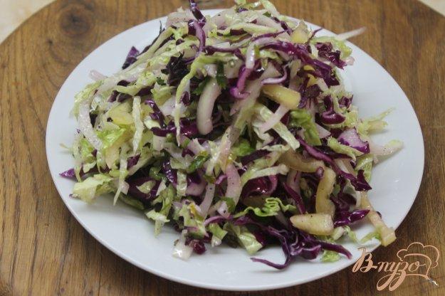 фото рецепта: Салат капустный с маринованным луком