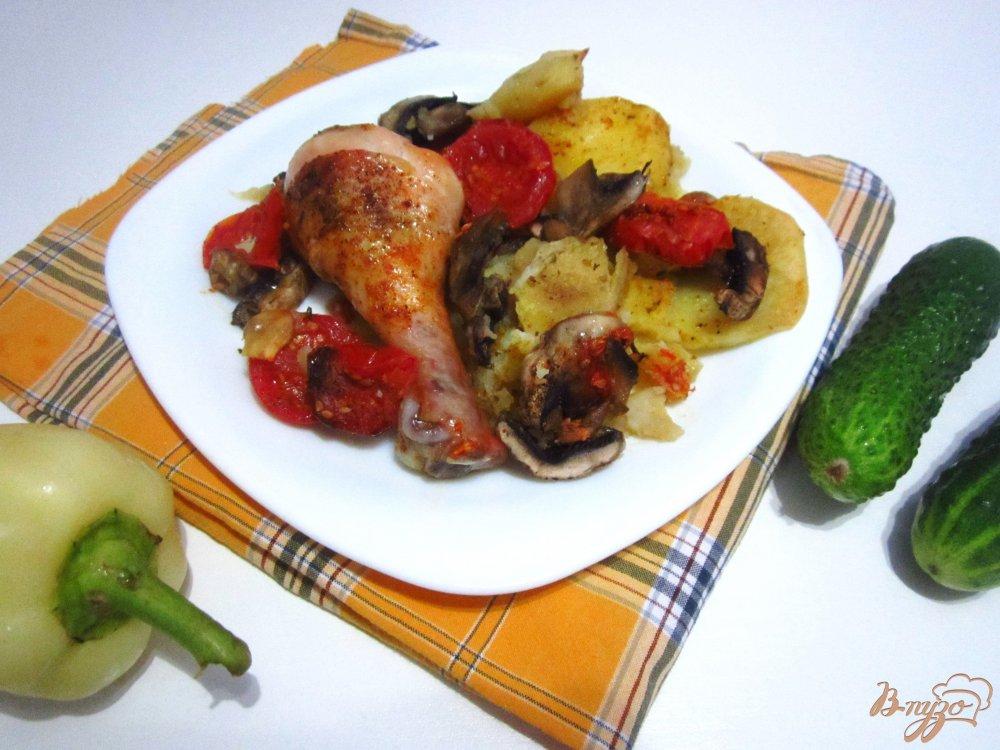 Рецепты из куриных грудок с картошкой в духовке с фото