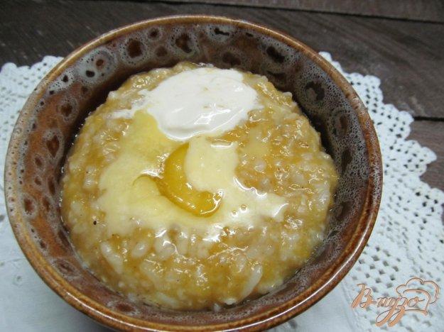 фото рецепта: Тыквенная каша с рисом и овсянкой